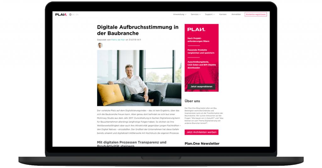 Plan.One Blog ist live
