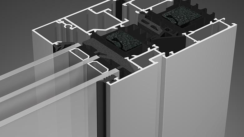 Fenster-Profilmaterial-Aluminium